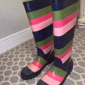J.Crew Rainbow Rain Boots